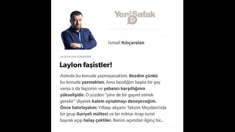 İsmail Kılıçarslan - Laylon faşistler! - 05.01.2019