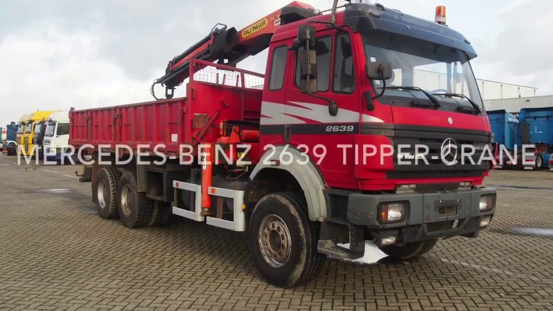 Mercedes-Benz 2639 tipper-crane