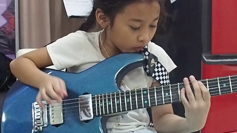 Highway star (organ solo) guitar by PettyRock 7 year old PettyRock