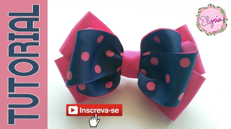 Laço Emely 3.8 cm 🎀 Ribbon Bow 🎀 DIY by Elysia Handmade