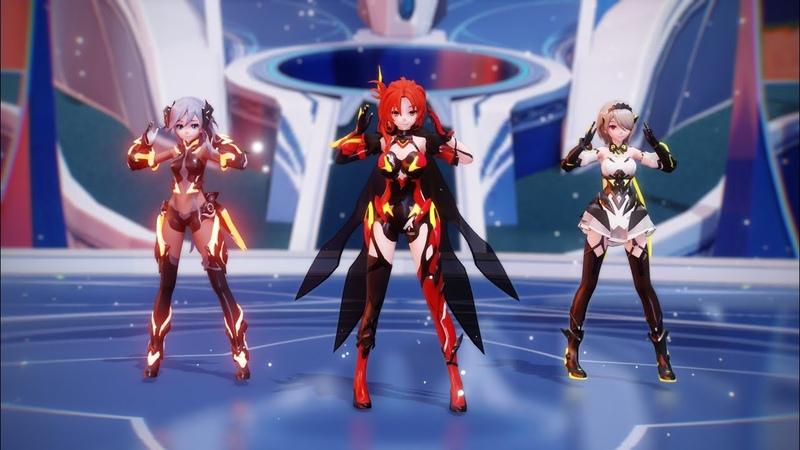 [Honkai Impact MMD] Murata Himeko, Fuhua, Rita Rossweisse - Conqueror