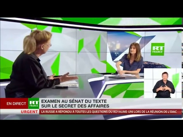 Le dictateur Emmanuel Macron veut etouffer les libertes fondamentales avec le secret des affaires