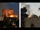 BIZARRE Incendie Nôtre Dame Mosquée AL AQSA au Même Moment