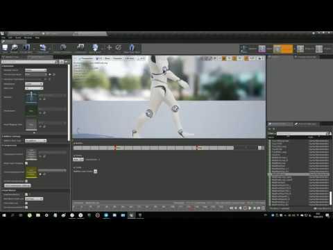 Unreal Engine 4 - 3 Урок по анимациям и звукам. Работа с Anim Notify, Wavs и Cues.