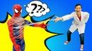 Игры для мальчиков – У Человека Паука проблемы с паутиной! – Супергерои в видео с игрушками.