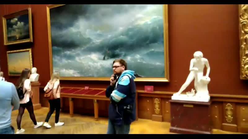 Картины Девятый вал и Волна Айвазовского