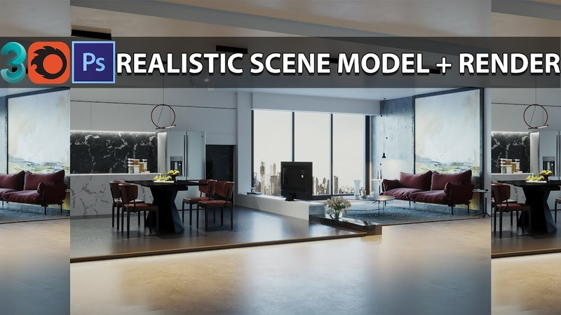 3ds Max Corona Render Pro Tutorial Modeling Render