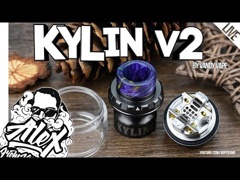 Kylin V2 RTA l by Vandy Vape l Alex VapersMD review 🚭🔞