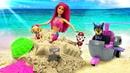 Щенячий патруль и Барби русалочка спасают дельфина. Машины сказки - мультик из игрушек