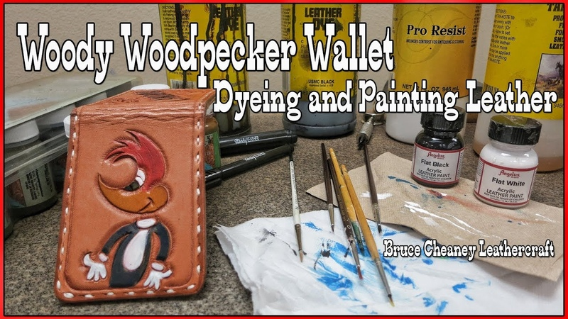 Leather Wallet Making: Mix and Match Acrylic Leather Paints, Dyes, Finishes | How to dye and paint