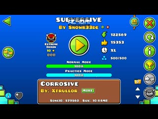 Geometry Dash- (Extreme Demon) Subversive by Snowr33de and More