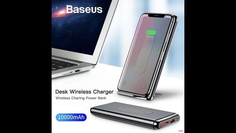 Baseus 10000 мАч QI беспроводное зарядное устройство power Bank
