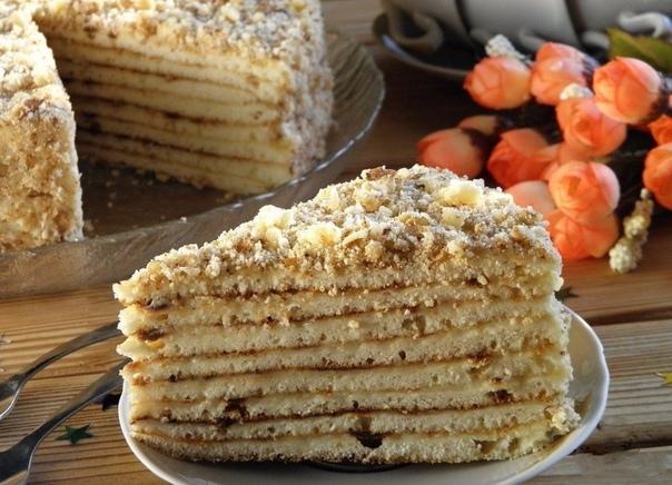 Быстрый торт на сковороде со сгущенкой.