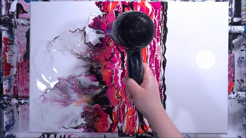 Pink Black Diptych Acrylic Hair Dryer Pour 265