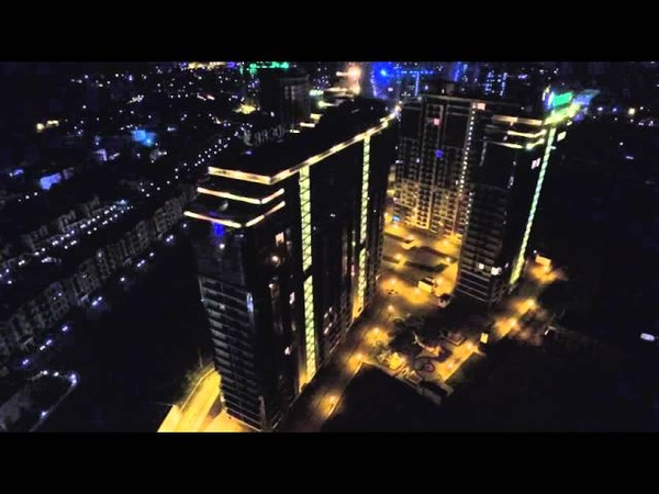 Французский бульвар Кадорр новострой Одесса LED light show с высоты птичьего полета