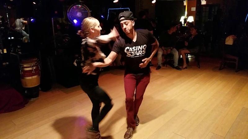 Dennise Cambria Y Jorge Melo Casino Stars salsa dancing Amaya damce social