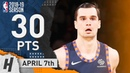 Maria Hezonja Full Highlights Knicks vs Wizards 2019.04.07 - 30 Points, SICK!