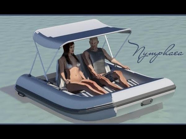 Nymphaéa Прогулочный электрокатер PVC Floating Electric boat