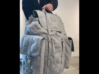 This oversized louisvuitton backpack will cost you around 10,000 usd.