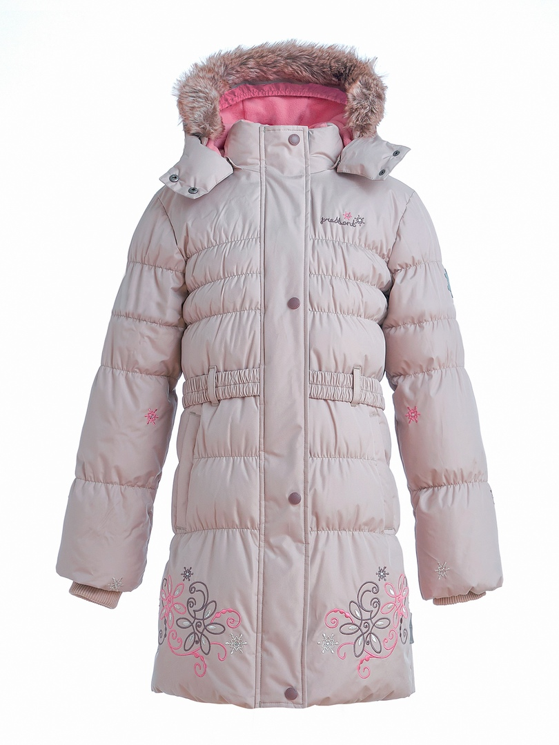 WP91352 BEIGE Пальто зимнее