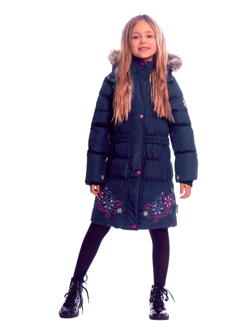 WP91352 DARK BLUE Пальто зимнее