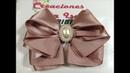 Lazo de olanes en elegante bow broch VIDEO No.693 creaciones Rosa Isela