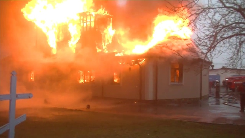 Харківська область рятувальники ліквідували пожежу у храмі