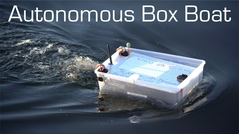 Autonomous Tupperware Boat - Long Range Waypoint Mission - RCTESTFLIGHT