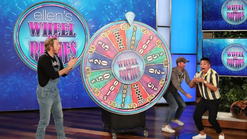 Dax Shepard Ellen Help a Fan Spin Their Way to $1,000!