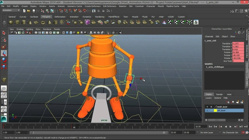Lifting A Heavy Weight Part 1 - Animation Tutorial in Maya