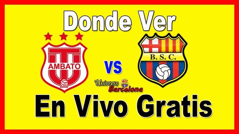✅🥇 Donde Ver【Tecnico Universitario vs Barcelona SC en Vivo】▷ Liga Pro Ecuador 2019 👈👀👏