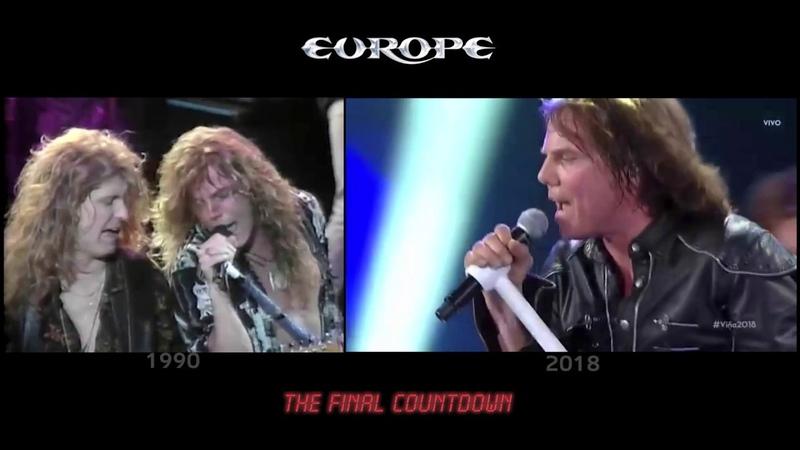 Europe - The Final Countdown [1990 2018 simultaneo] @ Festival de Viña del Mar Chile