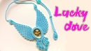 Let this macrame dove bring luck to you - The pigeon necklace tutorial - vòng cổ chim bồ câu