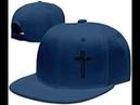 Casual Men Women Christian Jesus Cross Flat Adjustable Snap back Cap