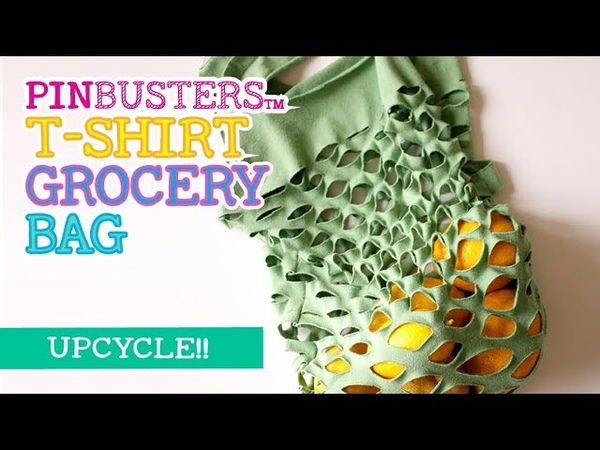 How To Up-Cycle a T-Shirt into a Grocery Bag DOES THIS WORK