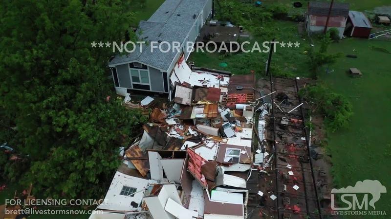5-21-2019 Dale, Ok Tornado rips through OKC metro early this morning causing damage drone