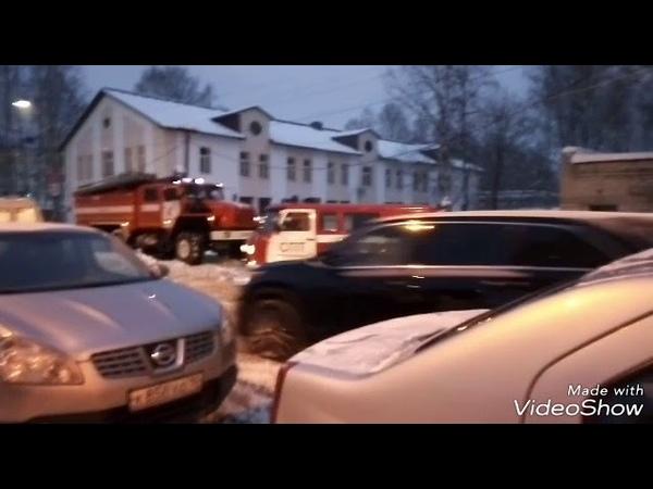 Пожар в заброшенной военной части г. Петрозаводск