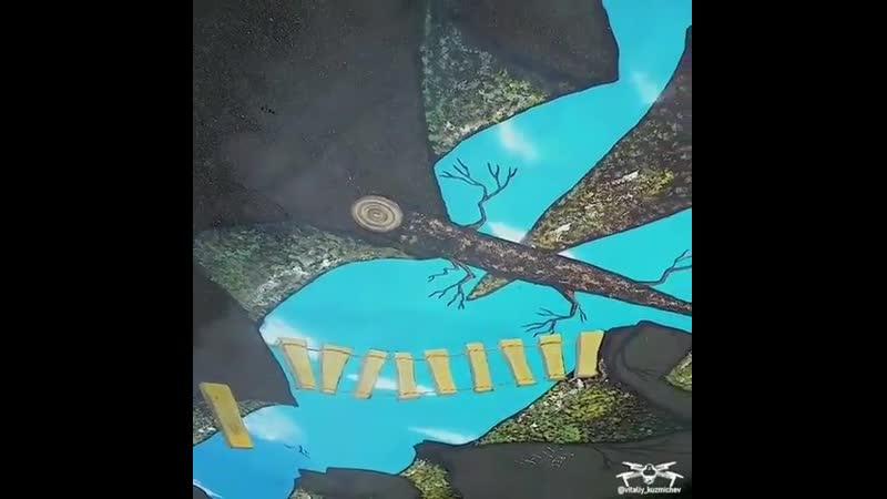 Рисунок на асфальте в Центральном парке ⠀ Фото 📸 @ vitaliy kuzmichev ⠀ невинномысск кочубеевское пятигорск кисловодск черк