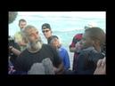 British oceanrower Jim Shekhdar making landfall in Australia (North Stradbroke Is). 30 March 2001.