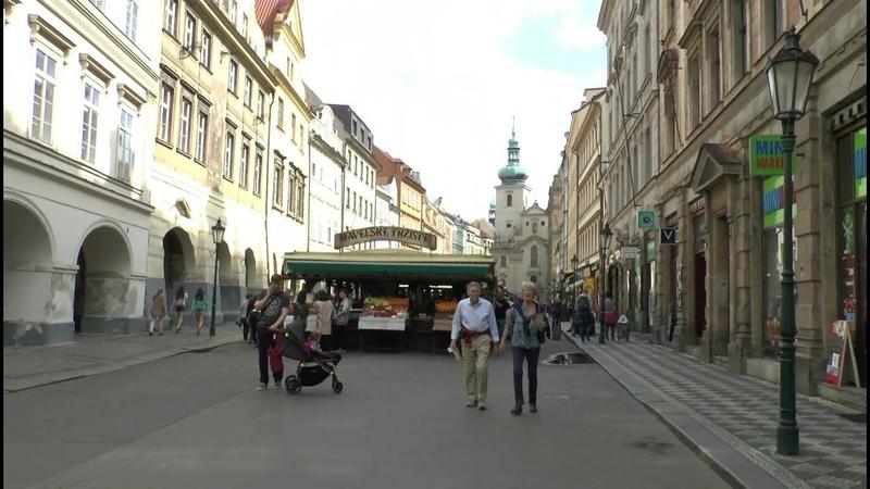 Walk around Prague Czech Republic Hlavní nádraží Valdštejnská zahrada