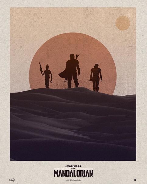 Официальный арт-постер первого сезона сериала «Мандалорец»
