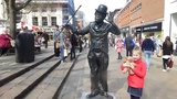 Charlie Chaplin's Living Statue 2014.