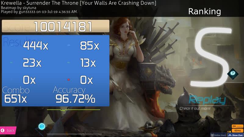 Osu! - [HD] - Krewella - Surrender The Throne - Your Walls Are Crashing Down