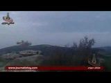 S.A.A'S 4TH DIVISION ARTILLERY &amp GOLAN MISSILES BARRAGE ON AL-NUSRA &amp T.I.P SITES NORTHERN LATAKIA