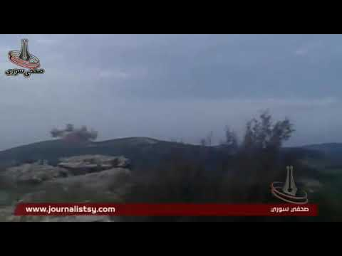 S.A.A'S 4TH DIVISION ARTILLERY GOLAN MISSILES BARRAGE ON AL-NUSRA T.I.P SITES NORTHERN LATAKIA