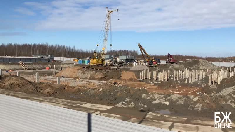 Ход строительства поликлиники на ул Адмирала Черокова март 2019 г