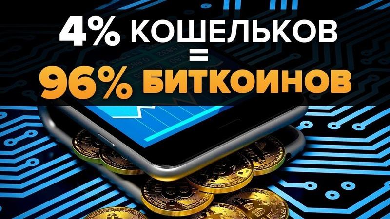 ОПРОВЕРЖЕНИЕ: 96% Биткоинов Принадлежат 4% Кошельков. Так кто же владеет Bitcoin?