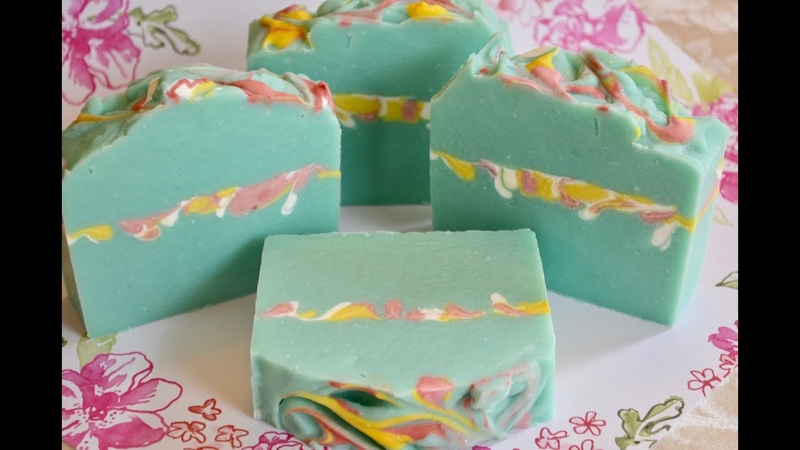 BUTTERFLY GARDEN~ Making Cutting Cold Process Soap