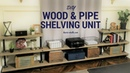 DIY Wood and Pipe Shelving Unit