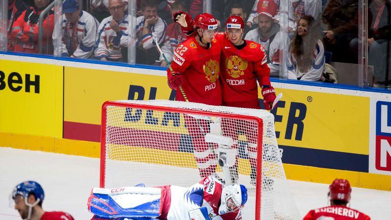 Россия победила Чехию на ЧМ по хоккею (Видео)